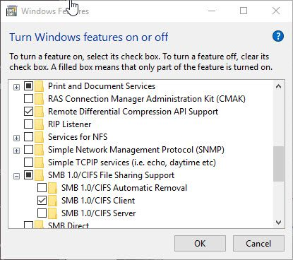 Enable SMBv1 on Windows 10 per GPO - IT-Admins